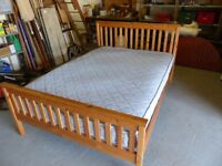 Pine Double Bed and Ikea Mattress plus Electrolux vacuum cleaner included in the price