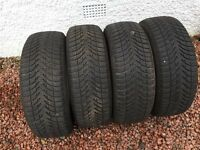 4 x Michelin Alpin Winter Tyres (used) 205/55/R16 91H - £100 for all 4