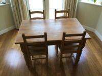 Solid Antiqued Pine farmhouse kitchen/Dining Table
