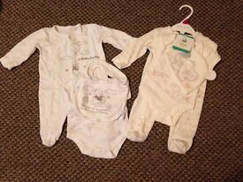 Baby Clothes 0-1 Month Lot 8