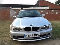 BMW 3 Series 2.0 318Ci SE 2dr 2001 (Y reg), Coupe 102,000 miles Automatic One Year MOT