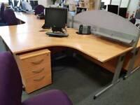 Large 160cm office corner desk