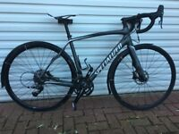 Specialized Roubaix Road Bike Size 54cm Carbon Frame, 22 Speed SRAM Rival with Hydraulic Disc Brakes