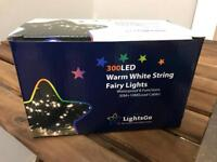 300 LED fairy lights - warm white - used once