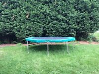 Supertramp 12 foot trampoline. Taken apart for easy moviing.. can deliver locally £50