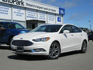 2017 Ford Fusion LOW LOW KMS/ALLOY WHLS/LEATHER INTERIOR/NAV/BLU