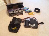 Holga 120N camera, film, adaptor and fish eye lens