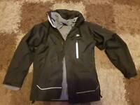 Black Trespass 3 in 1 waterproof coat age 11-12