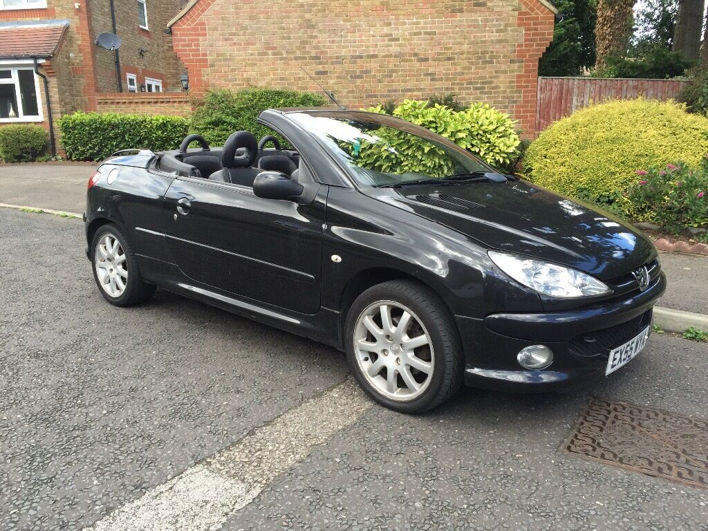 peugeot 206 cc convertible hard top black hpi clear in uxbridge london gumtree. Black Bedroom Furniture Sets. Home Design Ideas