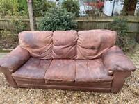 FREE Leather sofas