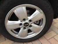 Genuine Set of MINI Alloy Wheels & tyres