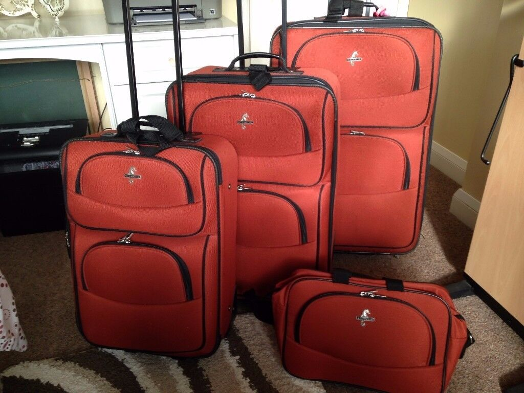 Four piece top quality matching luggage set