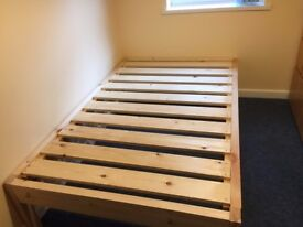 4 foot double pine bed brand new with very high quality mattress.