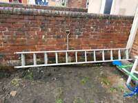 2 section heavy duty extention ladders