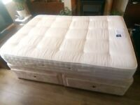 CLEAN DOUBLE DIVAN BED + 4 DRAWER STORAGE, COULD DELIVER.