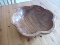 Unusual Wood Fruit bowl.