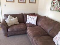 Beautiful brown corner sofa