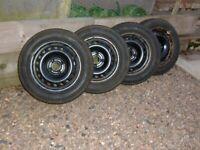 Skoda Citigo steel wheels and winter tyres