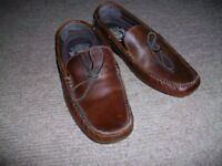 Men's Next Brown leather loafer shoes size 9