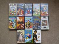 Disney classic VHS tapes + others (13 in all) - Xmas viewing