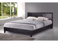 JET FAUX THICK LEATHER DOUBLE BED FRAME BRAND NEW // SAME DAY EXPRESS ALL OVER LONDON //