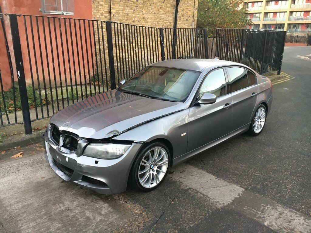 2010 10 bmw 325d m sport auto e90 lci saloon grey damaged salvage repairable in walthamstow. Black Bedroom Furniture Sets. Home Design Ideas