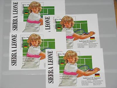 Sierra Leone Block 66 + 90-92 Steffi Graf Tennis MNH
