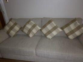 6 Dunelm sofa cushions all as new