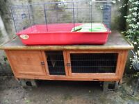 Rabbit hutch and indoor cage