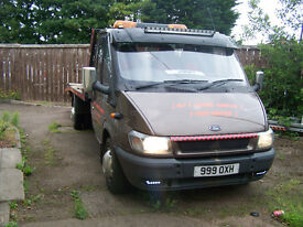 54 PLATE FORD TRANSIT RECOVERY TRUCK LOT,S OF MONEY SPENT