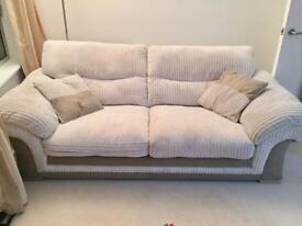 Soft & Plush Sofa in Cream/Tan with Corduroy Fabric