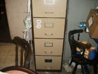 Two Tall Filing Cabinets, well used, but alot of wear left 4 draws no keys