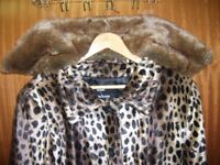 New Faux Fur Jacket with Detachable Collar