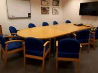 Boardroom table and x 10 chairs. Excellent condition