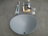 satellite dish sky + quad lnb new