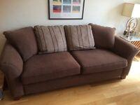 Large brown DFS sofa