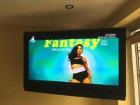 "Panasonic viera 50"" TV with strong wall bracket"