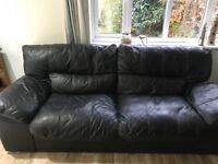 2x 3-seater Sofas (Leather) - Must be collected on Sunday 19th November