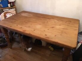 Solid pine table (no chairs)