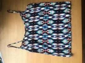 Chiffon patterned top