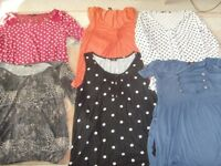 ASSORTED LADIES TOPS,SIZE 14-16 - 50P EACH