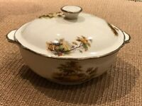 VINTAGE Alfred meakin hayride serving dish with lid