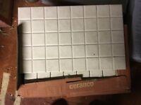3 full packs of porcelonosa mosaic tiles in beige.