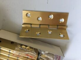Brass butt hinges 5 pairs with fixings