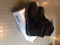 New S1P Arco Leather Safety Work Boot in Black Sizes 12/10/7