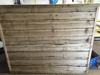Waneylap fence panels pressure treated