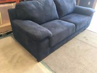 Navy Blue 3 Seater Sofa NEW EX-DISPLAY