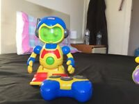 LITTLE TIKES RC ROBOT TODDLER GETS MOVING WITH ROBOT BUDDY