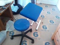 Reflexology portable treatment table and stool