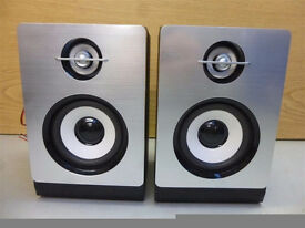CMC-361 Speakers Stainless Steel Look Superb Bass & Clear Sound 20 Watts